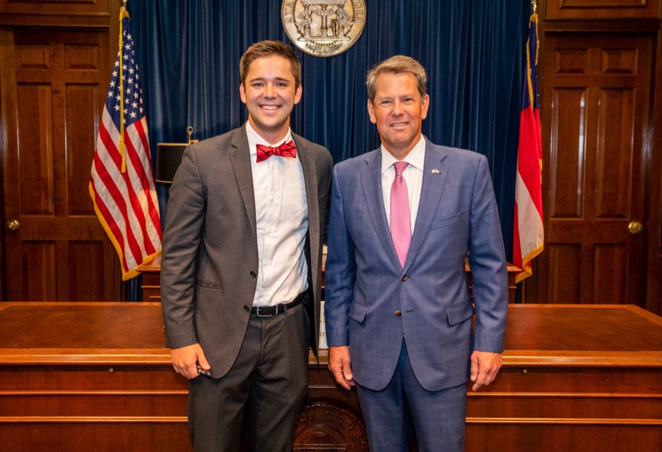 Austin McDonald with Governor Kemp