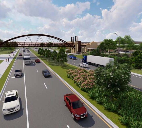 Pedestrian Bridge in Peachtree Corners