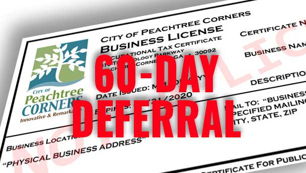 60-day deferral business license