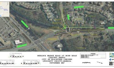 medlock bridge Road and Bush Road improvement