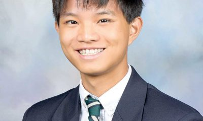 Wesleyan School senior Andy Yang