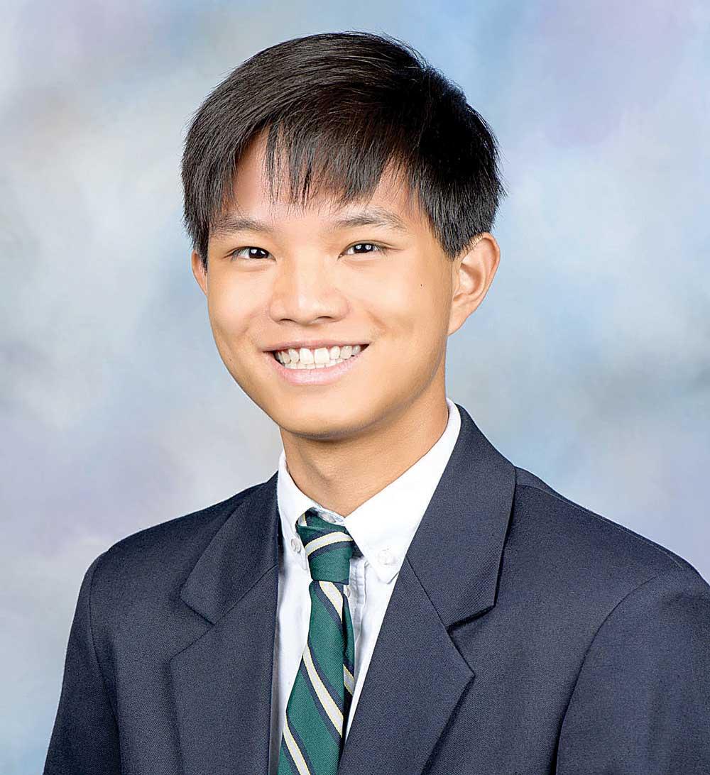 Wesleyan School senior Andy Yang