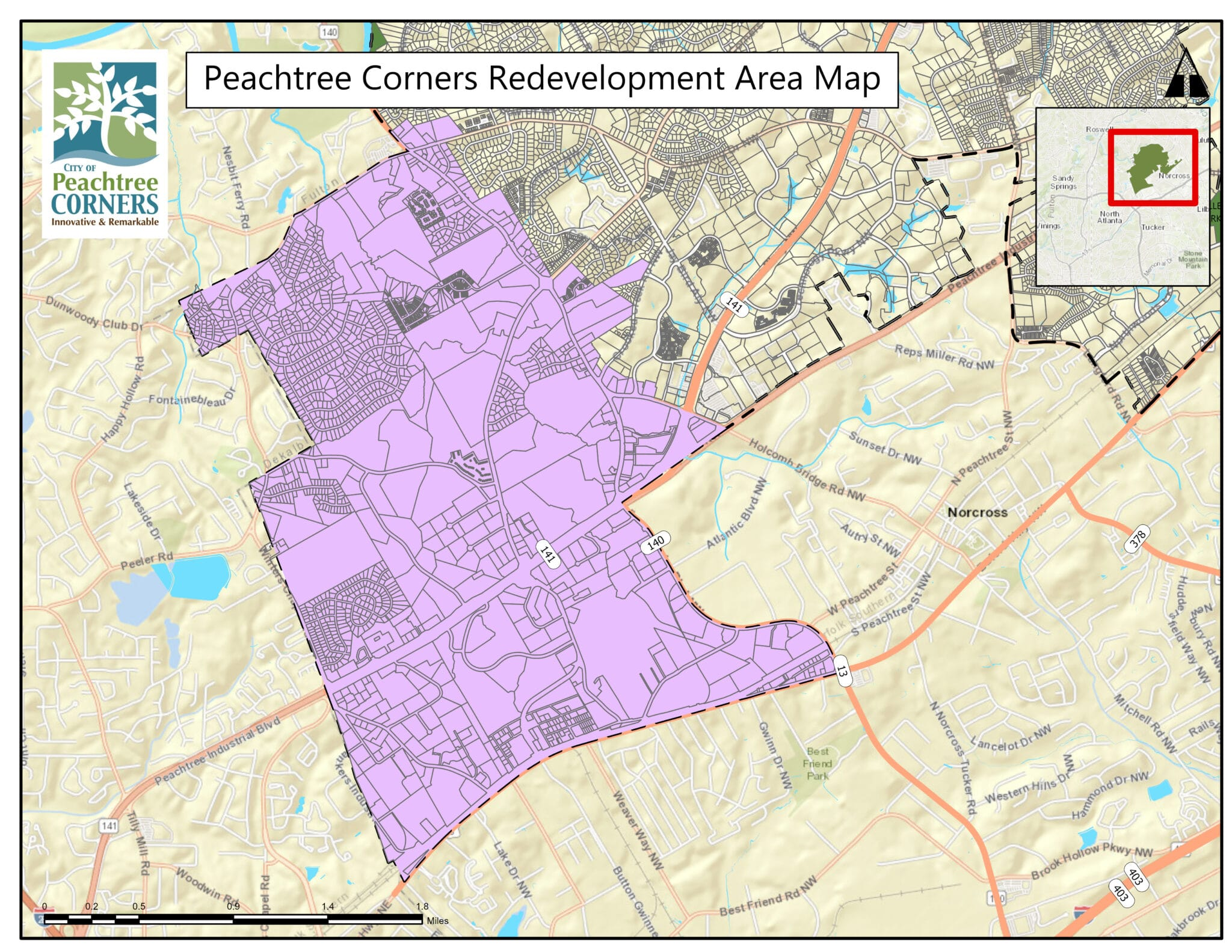 redevelopment authority board in peachtree corners