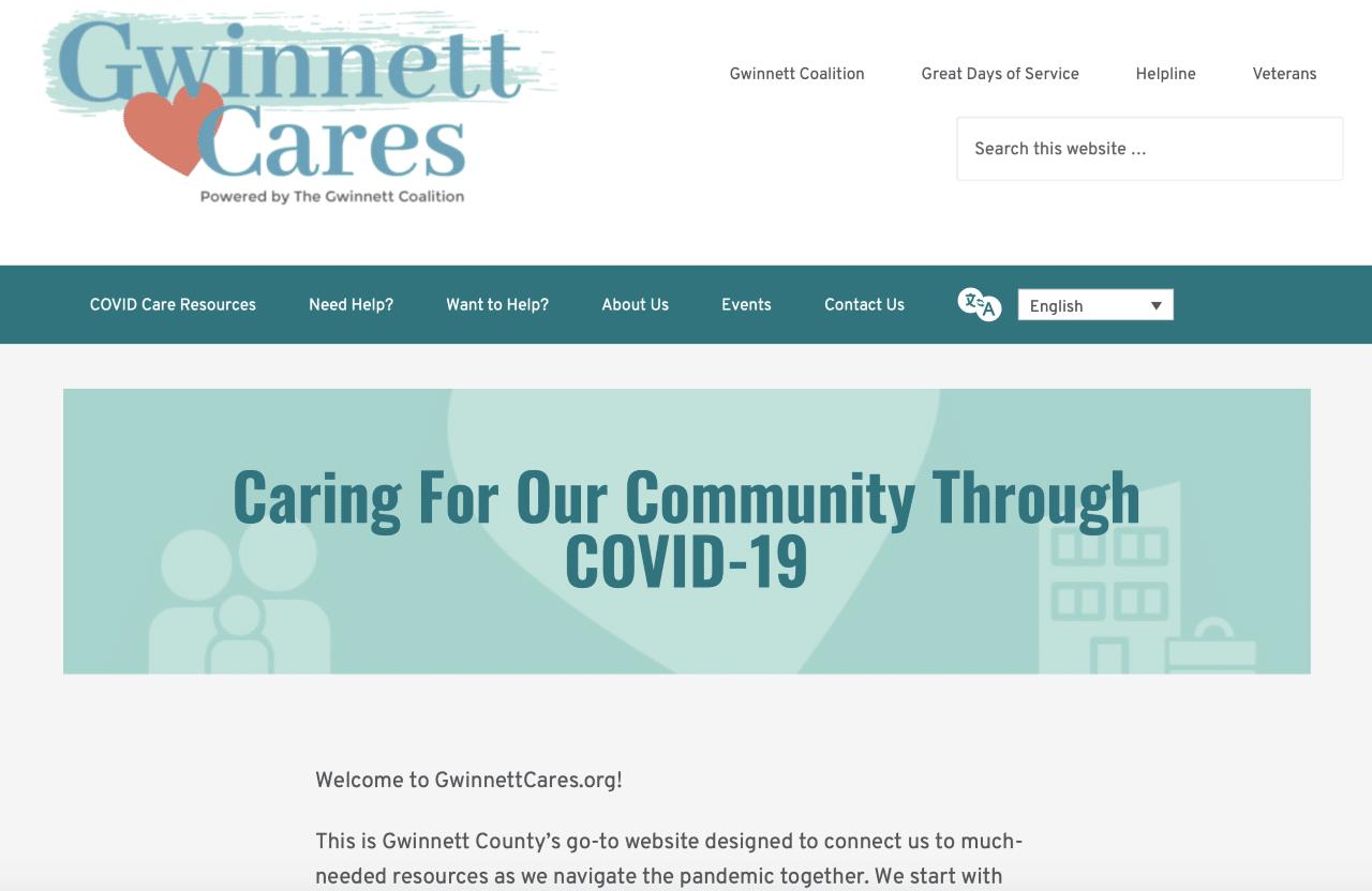 gwinnett cares site